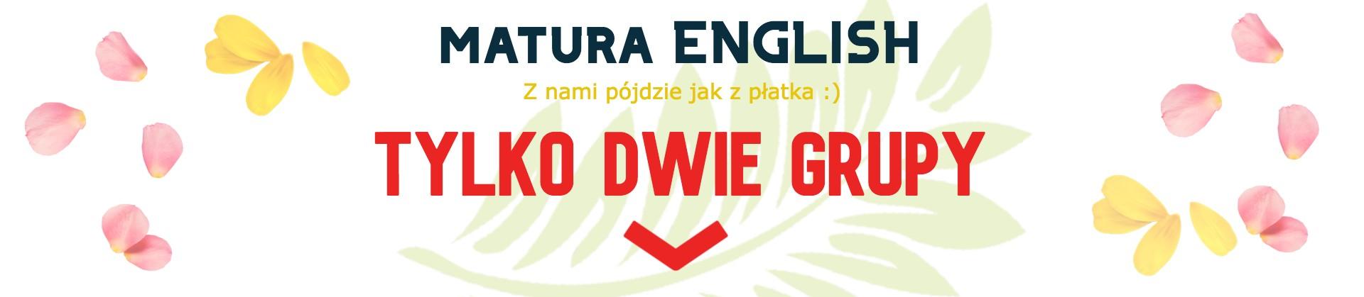 kurs maturalny z angielskiego zapisy Łomianki